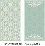 set of template greeting card ... | Shutterstock .eps vector #711722251