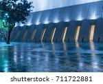 empty cobblestone passage...   Shutterstock . vector #711722881