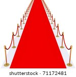 red carpet with gold stanchions | Shutterstock . vector #71172481
