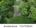 garden road  high angle | Shutterstock . vector #711725014