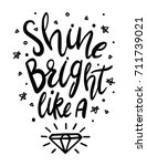 black and white shine bright... | Shutterstock .eps vector #711739021