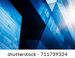 cross section of office... | Shutterstock . vector #711739324