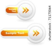 vector arrow buttons for web.... | Shutterstock .eps vector #71175064