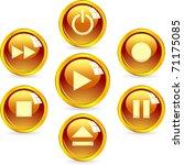 set of web buttons. | Shutterstock .eps vector #71175085