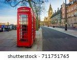 london  england   traditional... | Shutterstock . vector #711751765