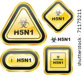 h5n1. warning sign collection. | Shutterstock .eps vector #71175211