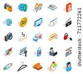 shop icons set. isometric set...