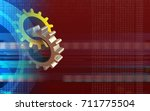 3d illustration of gears over... | Shutterstock . vector #711775504