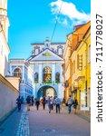 vilnius  lithuania  august 14 ...   Shutterstock . vector #711778027