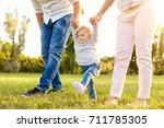 the first steps of the baby.  a ...   Shutterstock . vector #711785305