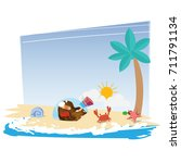 heart of love in glass bottle...   Shutterstock .eps vector #711791134