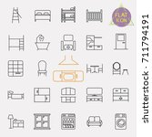 interiors furniture line icon... | Shutterstock .eps vector #711794191