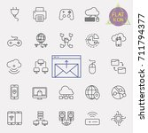 technology line icon set | Shutterstock .eps vector #711794377