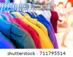 close up of women clothes... | Shutterstock . vector #711795514