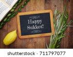 jewish festival of sukkot.... | Shutterstock . vector #711797077