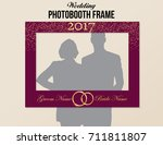 photobooth wedding frame with... | Shutterstock .eps vector #711811807