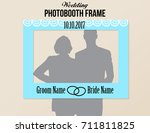 photobooth wedding frame with... | Shutterstock .eps vector #711811825