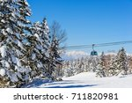 Panorama With Cable Car Ski...