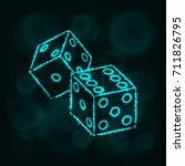 dice icon. two game dices ... | Shutterstock . vector #711826795
