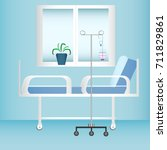 hospital room with window  bed... | Shutterstock .eps vector #711829861