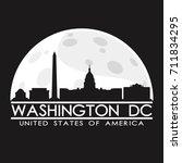 washington dc full moon night... | Shutterstock .eps vector #711834295