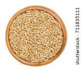 whole grain green spelt in... | Shutterstock . vector #711835111