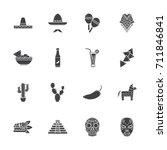 mexico icon set | Shutterstock .eps vector #711846841