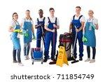 portrait of happy multiethnic... | Shutterstock . vector #711854749
