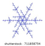 flat vector computer generated  ... | Shutterstock .eps vector #711858754