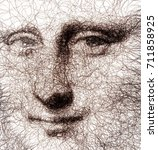 Fractal Drawn Mona Lisa...