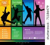website template | Shutterstock .eps vector #71186479