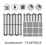 floor heating systems | Shutterstock .eps vector #711870415