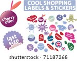 cool shopping stickers. vector | Shutterstock .eps vector #71187268