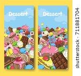 huge number of sweets. sweets...   Shutterstock .eps vector #711881704