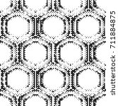 seamless pattern of halftone... | Shutterstock . vector #711884875