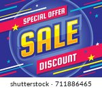 sale   vector banner template... | Shutterstock .eps vector #711886465