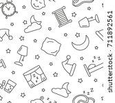 sleep seamless pattern. tiling... | Shutterstock .eps vector #711892561