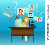 the concept of social networks. ... | Shutterstock .eps vector #711893131