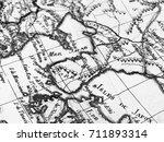 old map korean peninsula | Shutterstock . vector #711893314