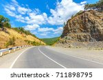 road in the caucasus mountains. | Shutterstock . vector #711898795