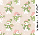 vector christmas and new year... | Shutterstock .eps vector #711901039