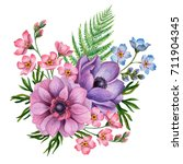 watercolor composition of... | Shutterstock . vector #711904345