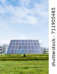 the solar panels are in the... | Shutterstock . vector #711905485