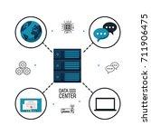 data center storage | Shutterstock .eps vector #711906475