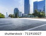 empty floor with modern... | Shutterstock . vector #711910027