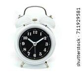 black alarm clock isolated on... | Shutterstock . vector #711929581