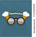 modern oktoberfest logo design... | Shutterstock .eps vector #711929959