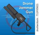 drone jamming gun protection... | Shutterstock .eps vector #711935821