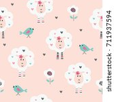 Seamless Pattern With Cute ...