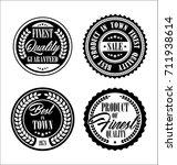 vintage labels | Shutterstock .eps vector #711938614